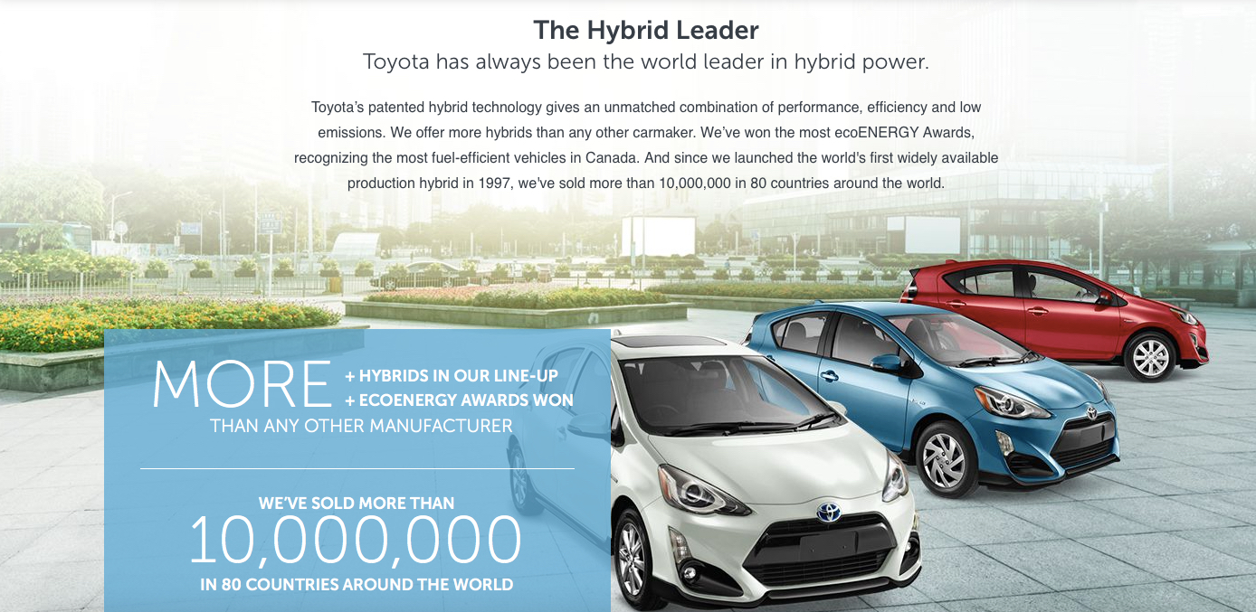the world of technological innovations hybrid electric car made by toyota Our latest show cars are an opportunity for us to give you a glimpse at the toyota of the future, and in some cases this future comes sooner than you think.